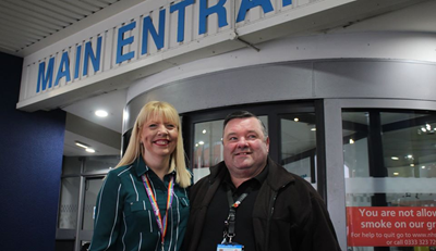 Jeanette and her husband Mal, who works in patient records at the Royal